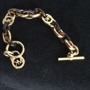 Michael Kors Tortoise shell-link bracelet